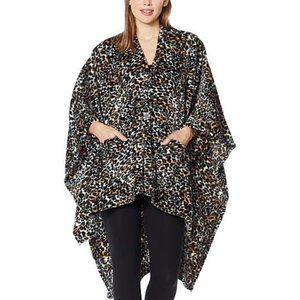 Soft & Cozy Leopard Angel Wrap Throw Blanket